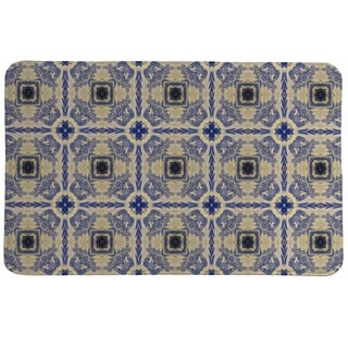 Laural Home Blue China Revisited Memory Foam Mat