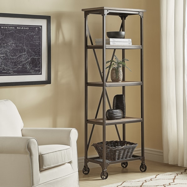 Shop Dania Industrial Etagere Bookcase By Inspire Q