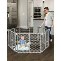 Regalo Plastic Play Yard & Gate - Silver