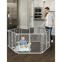 Regalo Plastic Play Yard & Gate - Silver