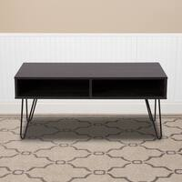Oak Park Collection TV Stand with Black Metal Legs