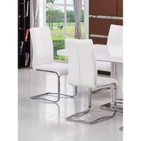 Best Master Furniture Modern Leather Dining Side Chair (Set of 2)