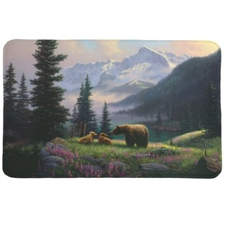 Laural Home Mountain Bear with Cubs Memory Foam Mat