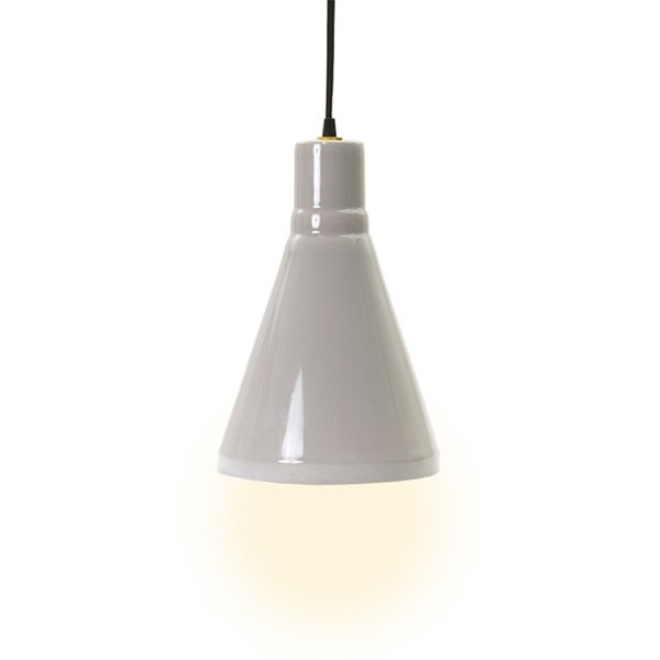 Fangio Lighting Swanky Grey Ceramic 13-inch Pendant