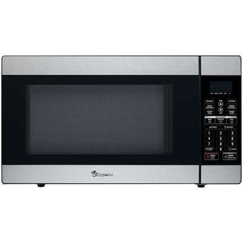 Magic Chef 1.8 Cu. Ft. 1100W Countertop Microwave Oven in Stainless Steel