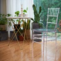 Nina Clear Polycarbonate Dining Chair (Set of 2)