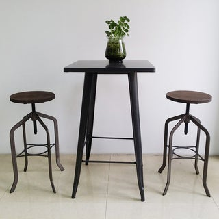 Tasha Copper Swivel Stool (Set of 2)