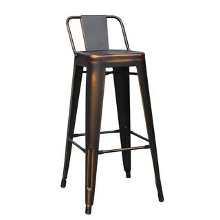 Clyde Copper Metal Barstool (Set of 4)