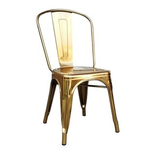 Chelsea Gold Metal Dining Chair (Set of 4)