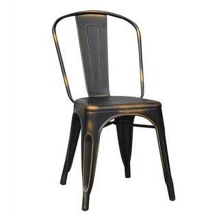 Loie Copper Metal Dining Chair (Set of 4)