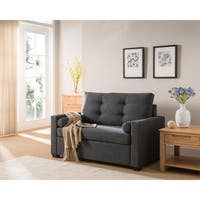 Avesta Gray Tufted Twin Size Convertible Sleeper Chair