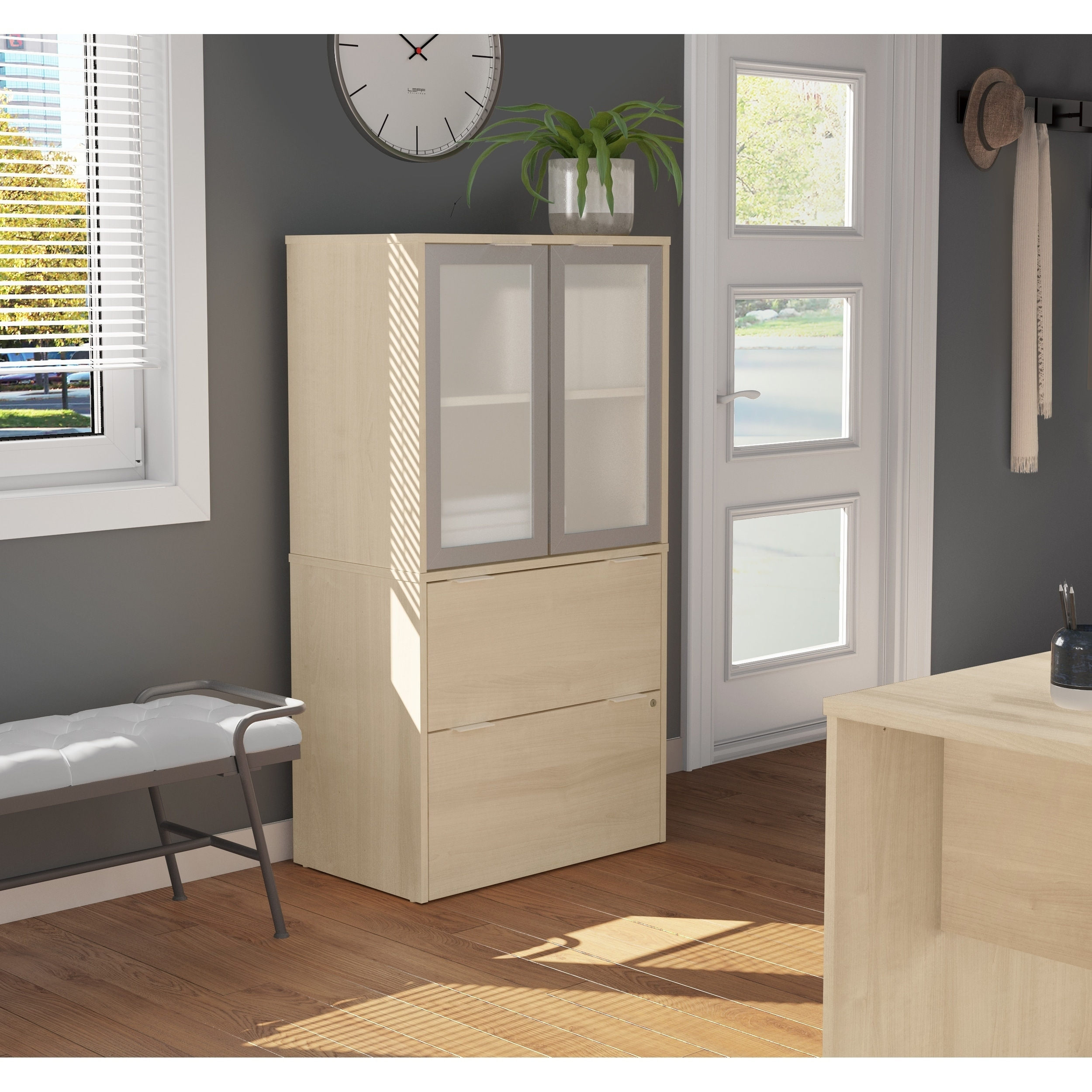 Image of: Shop Black Friday Deals On Bestar I3 Plus Lateral File With Storage Cabinet Overstock 19851975