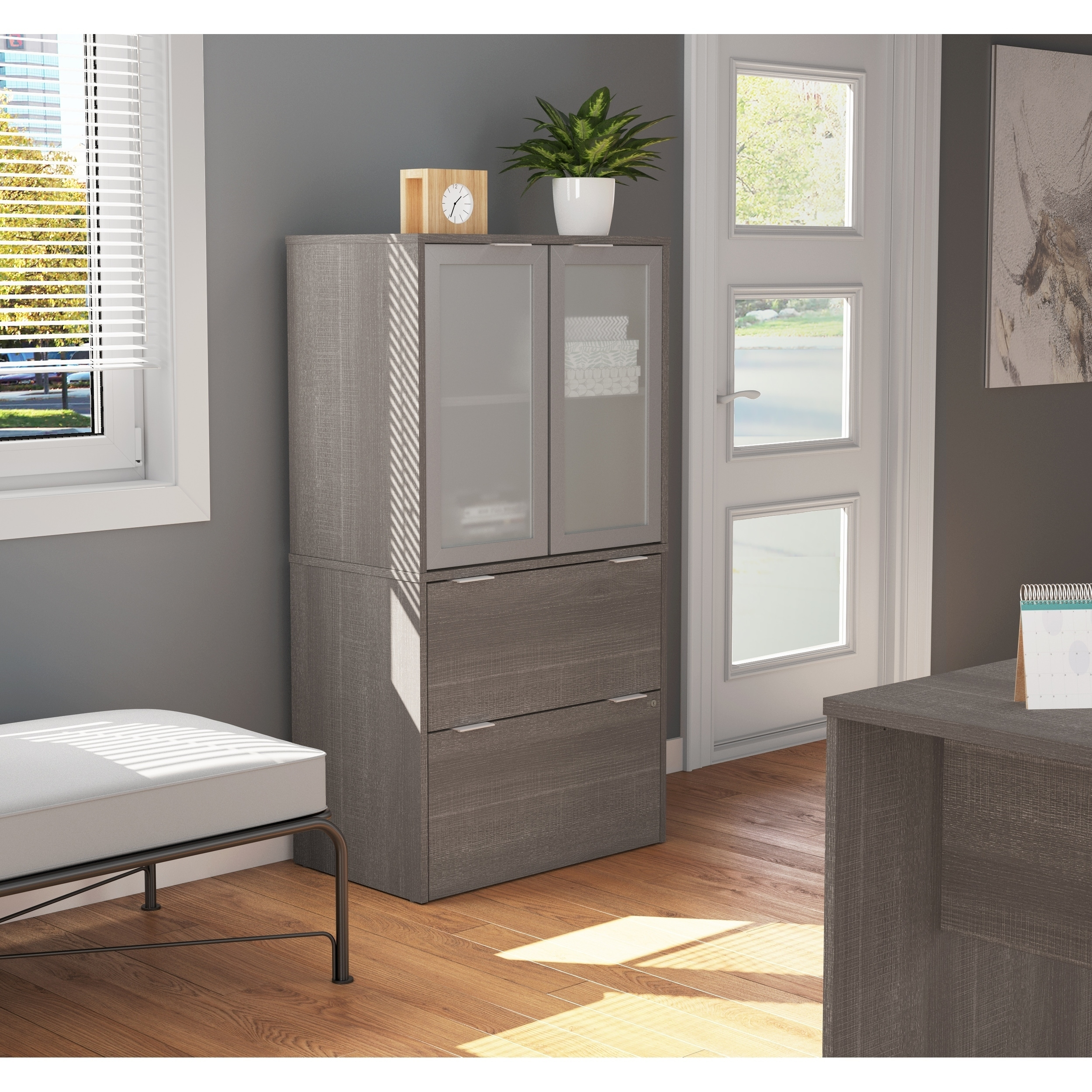 Shop Black Friday Deals On Bestar I3 Plus Lateral File With Storage Cabinet Overstock 19851975