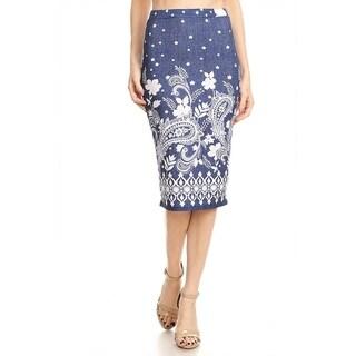 Women's Paisley Pattern Pencil Skirt