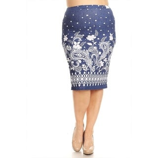 Women's Plus Size Paisley Pattern Pencil Skirt (More options available)