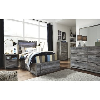 Baystorm Smokey Grey 6-drawer Panel Storage Bed