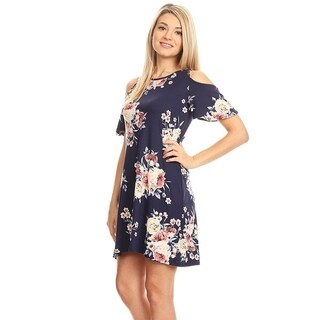 Women's Floral Pattern Print Dress