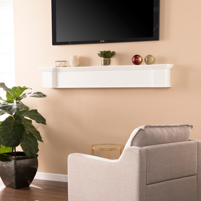 Shop Harper Blvd Atherton White Fireplace Mantel Shelf - Free ... on emerald home furniture, williams home furniture, tracy home furniture, madera home furniture, davis home furniture,