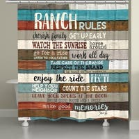 Laural Home Southwest Ranch Rules Shower Curtain