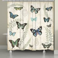 Laural Home Butterfly Naturelle Shower Curtain