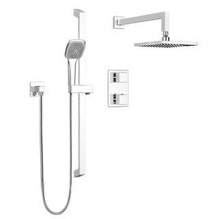 Belanger KIT-QUA140TSCP Quadrato Thermostatic Shower Kit, from Wall