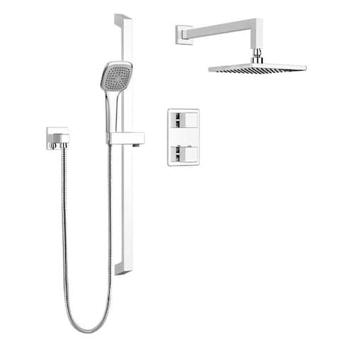 Belanger KIT-QUA140TSCP Quadrato Thermostatic Shower Kit from Wall
