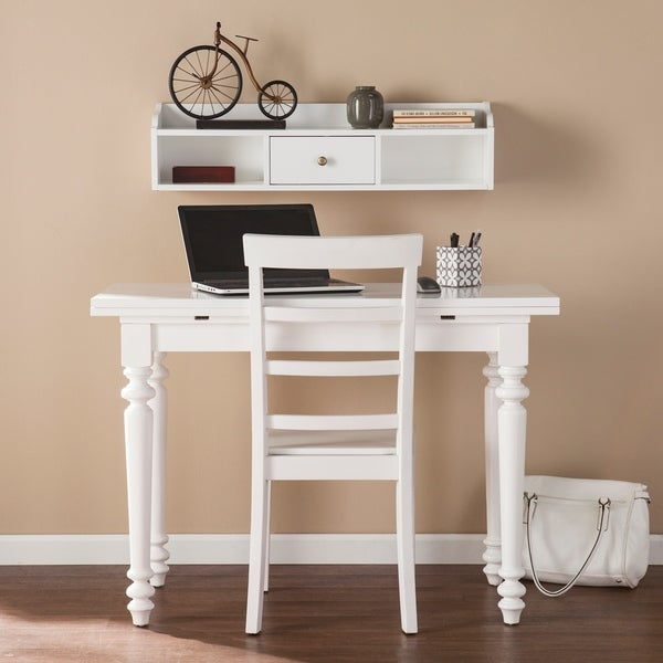 Harper Blvd Samasa White Convertible Desk To Dining Table W Hutch