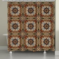 Laural Home Bamboo Nodes Shower Curtain