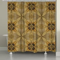 Laural Home Golden Magnolia Shower Curtain
