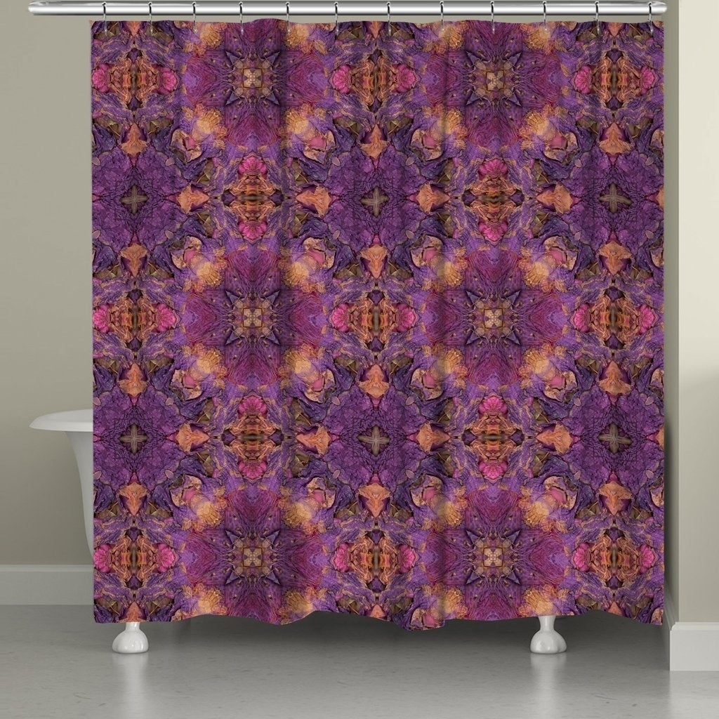Laural Home Azalea Leaves Shower Curtain (Polyester, Abst...