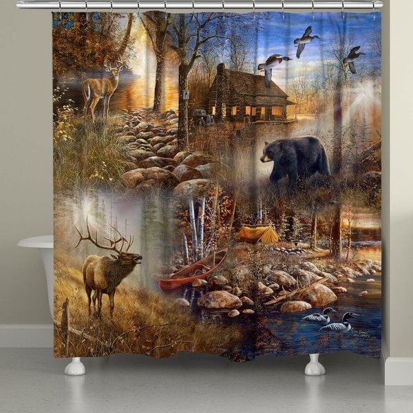 Laural Home Forest Collage Shower Curtain