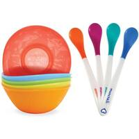 Munchkin 4 Count White Hot Safety Spoons with Multi Bowls