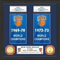 "New York Knicks ""Banner"" Bronze Coin Photo Mint - Multi-color"