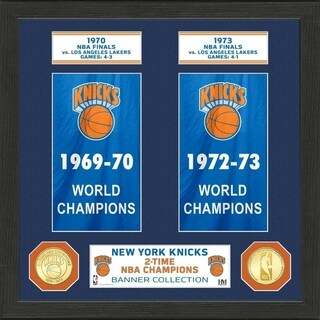 """New York Knicks """"Banner"""" Bronze Coin Photo Mint - Multi-color"""