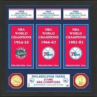 "Philadelphia 76ers ""Banner"" Bronze Coin Photo Mint - Multi-color"