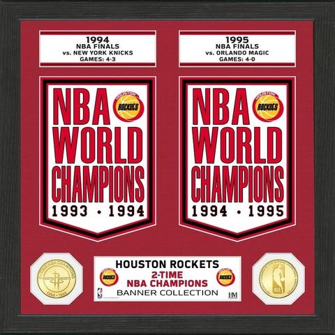 "Houston Rockets ""Banner"" Bronze Coin Photo Mint - Multi-color"