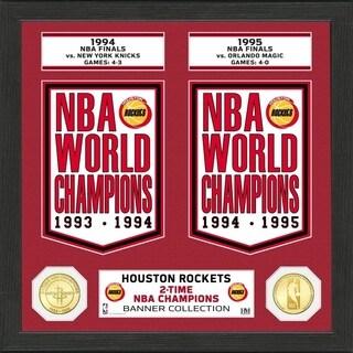 "Houston Rockets ""Banner"" Bronze Coin Photo Mint - Multi-color"