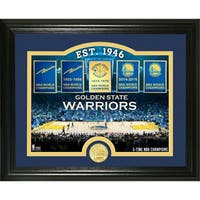 """Golden State Warriors """"Court"""" Bronze Coin Photo Mint - Multi-color"""