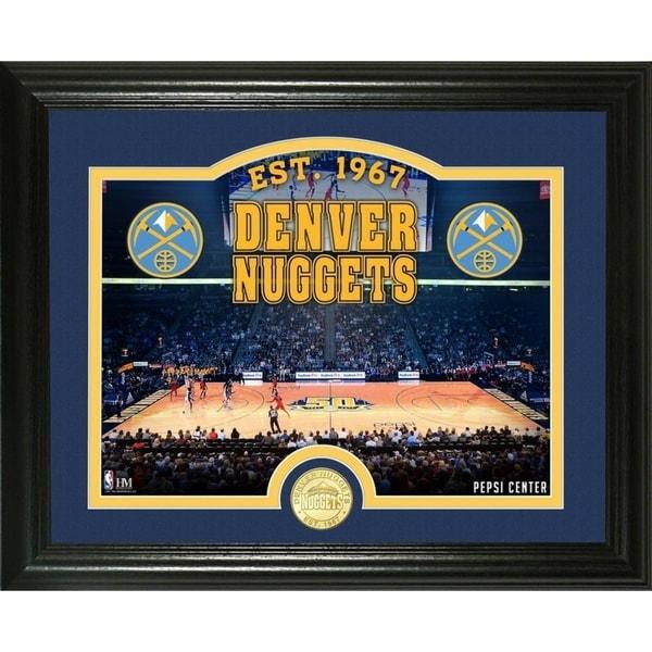 "Denver Nuggets Court: Shop Denver Nuggets ""Court"" Bronze Coin Photo Mint"