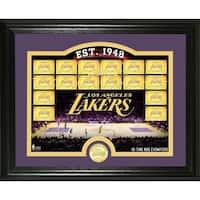 "Los Angeles Lakers ""Court"" Bronze Coin Photo Mint - Multi-color"