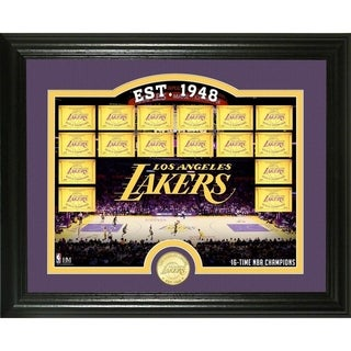 "Los Angeles Lakers ""Court"" Bronze Coin Photo Mint - Multi-color"