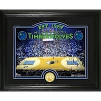 "Minnesota Timberwolves ""Court"" Bronze Coin Photo Mint - Multi-color"