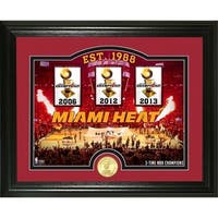 "Miami Heat ""Court"" Bronze Coin Photo Mint - Multi-color"