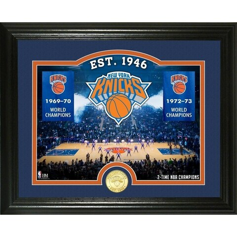 """New York Knicks """"Court"""" Bronze Coin Photo Mint - Multi-color"""