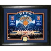 "New York Knicks ""Court"" Bronze Coin Photo Mint - Multi-color"