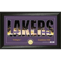 """Los Angeles Lakers """"Silhouette"""" Bronze Coin Photo Mint - Multi-color"""