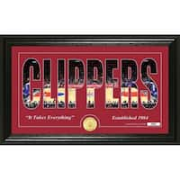 """Los Angeles Clippers """"Silhouette"""" Bronze Coin Photo Mint - Multi-color"""