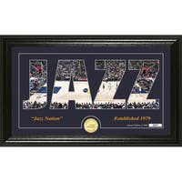 "Utah Jazz ""Silhouette"" Bronze Coin Photo Mint - Multi-color"