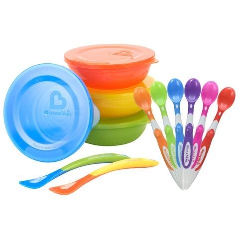 Munchkin Love-A-Bowls Set with Soft-Tip Infant Spoon - 6 Count