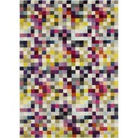 LYKE Home Pixel Inspired Multi-color Rug 5x7